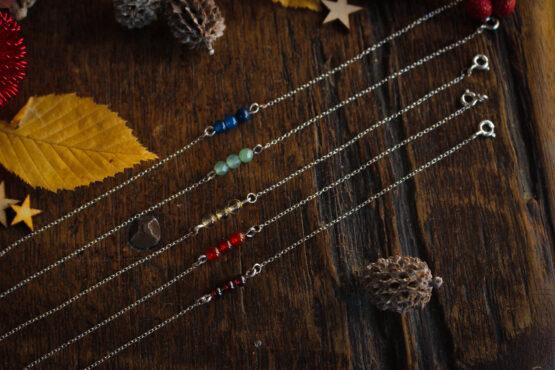 bracelet argent et pierres fines