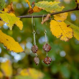 boucles feuilles d'argent