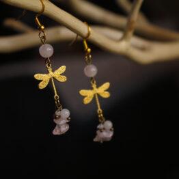 Boucles d'oreilles libellules - Libellules d'or