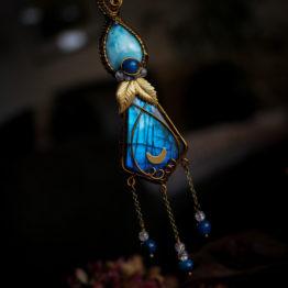 pendentif labadorite bleue
