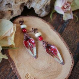 boucles dagues rouges
