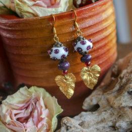 boucles verre filé violettes