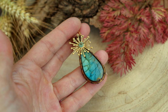 labradorite turquoise étoile