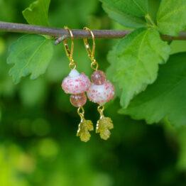boucles en quartz fraise